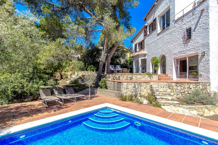 Catalunya Casas: Villa in Fontpineda for 14 guests with a view over Barcelona! 30km to city center
