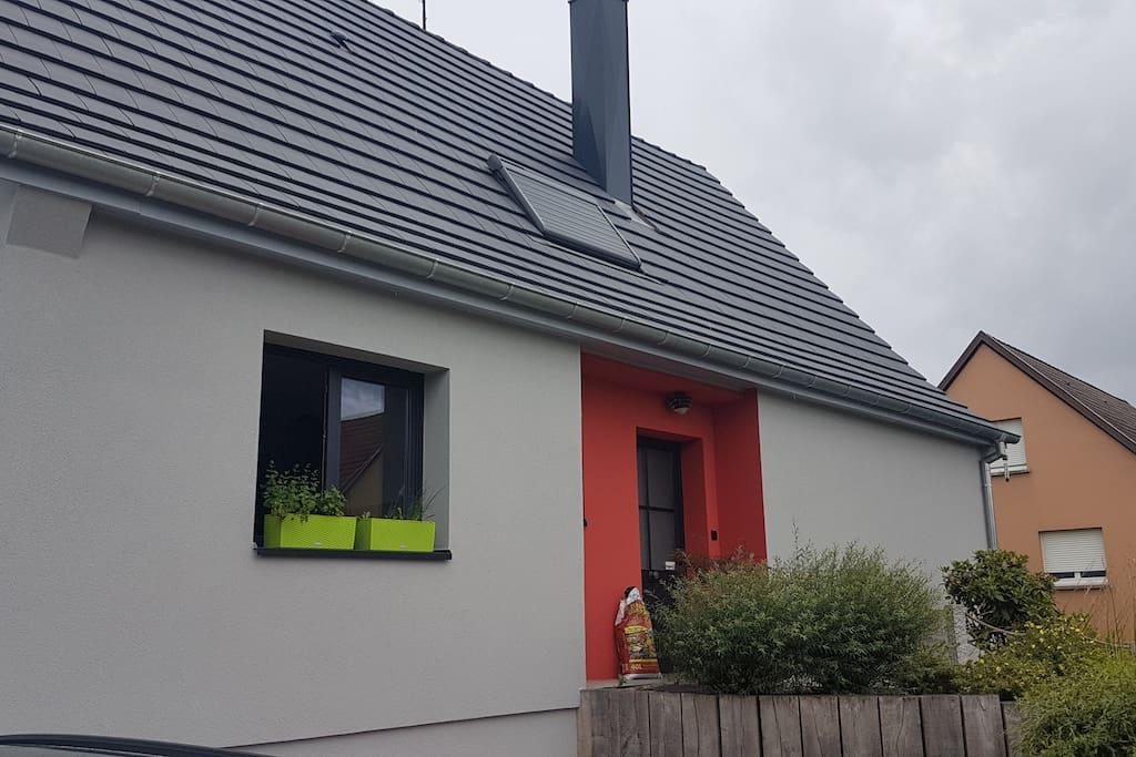 façade de la maison, rue des peupliers