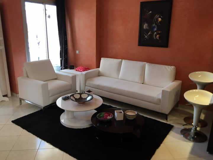 Joli appartement meublé au centre Rabat free wifi