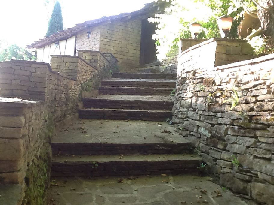 Steps to the house