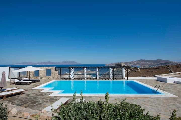 Superior Mykonian Sea View House with Pool
