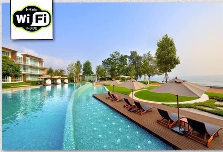 ❤️HuaHin Beachfront Pool-access❤️