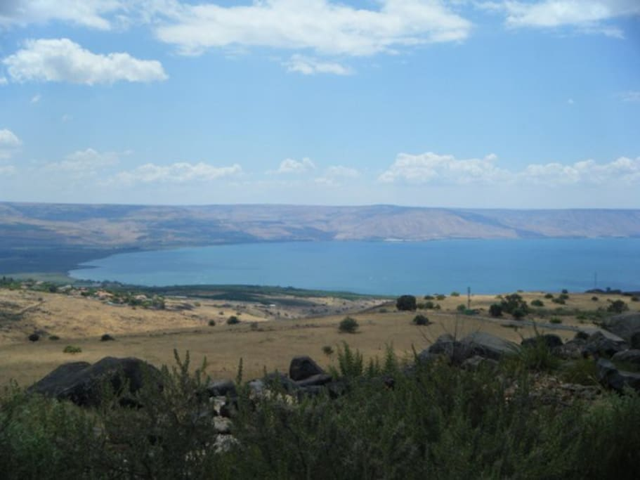 The view of the Sea of Galilee from our home