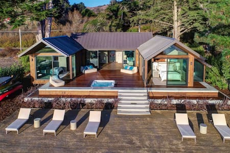 New Modern Masterpiece On the shore of Tomales Bay
