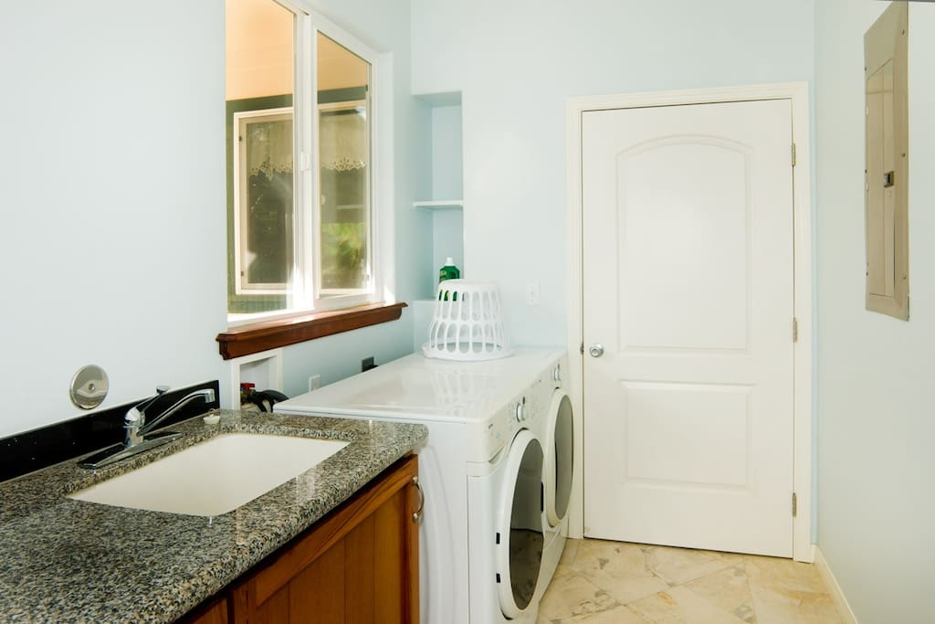 Laundry room with detergent included for your convenience