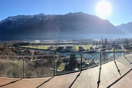 Double Room in Swiss Chalet on top of Interlaken