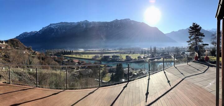 Double Room in Swiss Chalet on top of Interlaken
