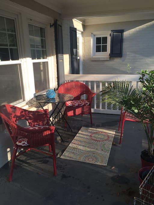 front porch space