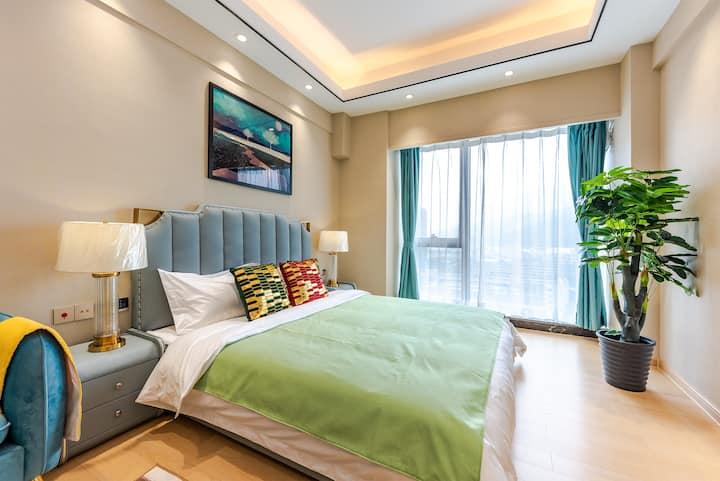 珠海国际会展中心/横琴口岸/雅致舒适大床房
