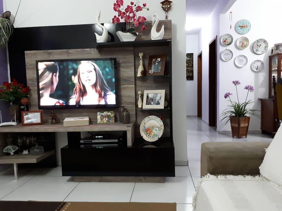 Sala Compartilhada, com TV a cabo e Ar condicionado