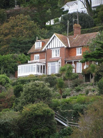 Edwardian house and terraced garden over looking Estuary