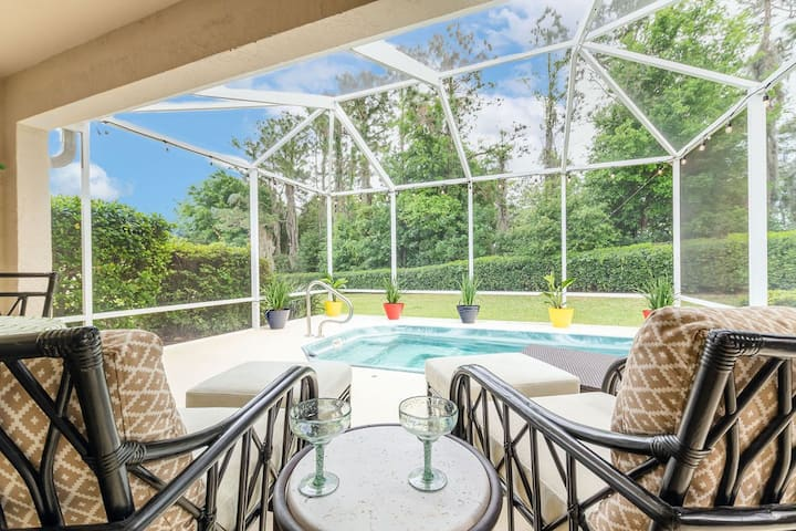 ☆Designer ⌂ w/ pool, golf cart & private backyard♡