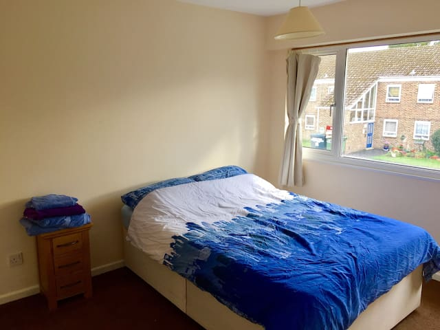 Bright room in a great location!