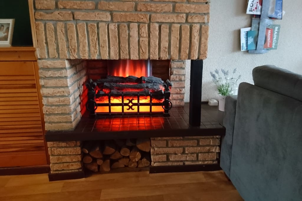 (Fake though cosy) fire place