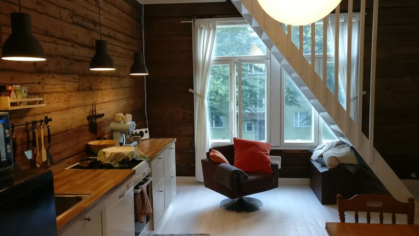 Studio in Portsa with gorgeous rustic interior