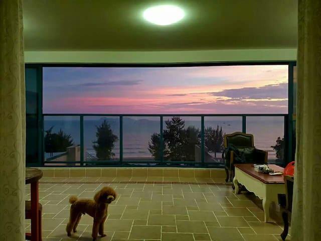 惠州市惠东万科双月湾一线海景套房 Sea view apartment - 双月湾平海镇惠东惠州市 - Wohnung