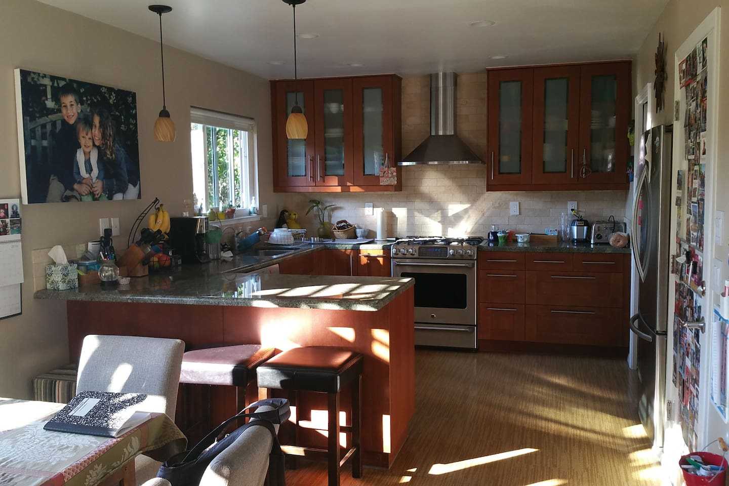 Kitchen, recently remodeled. Gas stove, electric oven