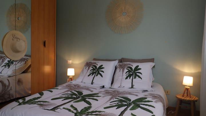 Chambre individuelle dans villa quartier calme.