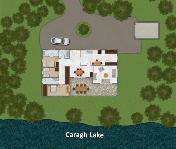 Luxury cabin on private island - Acorn Cottage