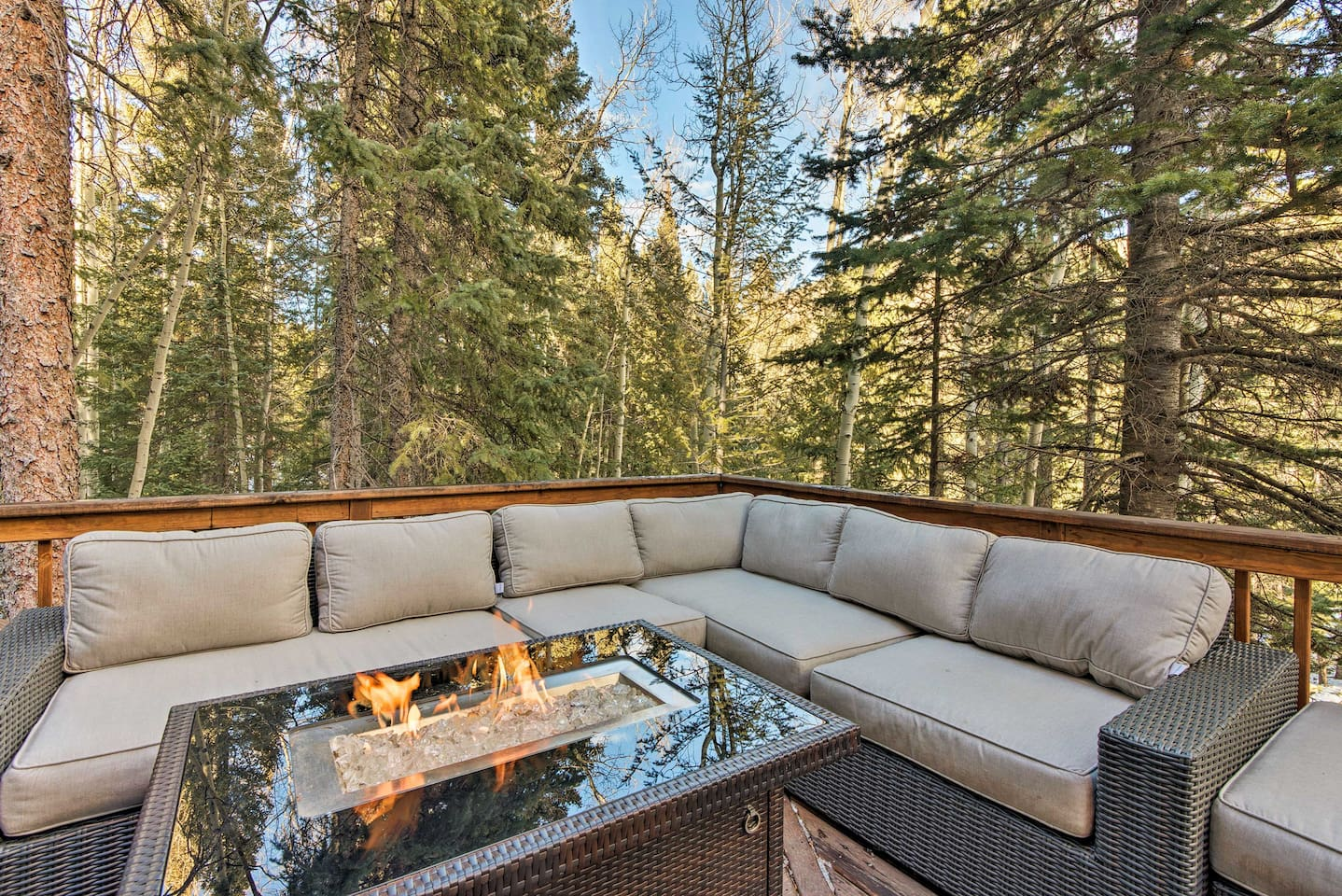 Immerse yourself in the Rockies at this Idaho Springs vacation rental cabin.