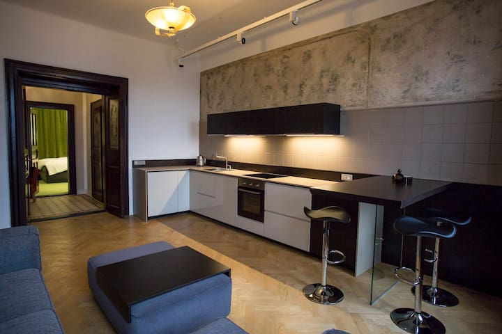 Renovated Vintage Apt 10min centre - Prague - Appartement