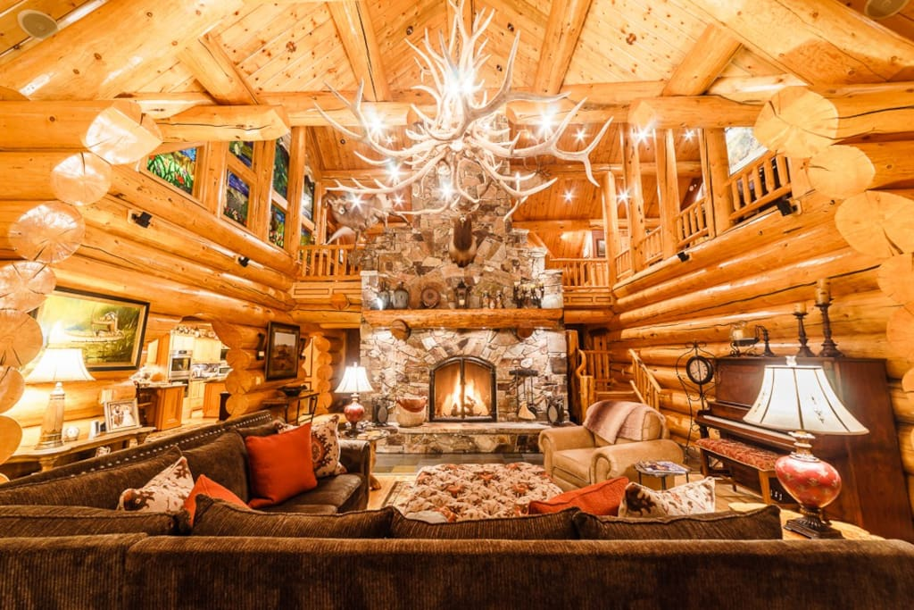 Spend your evening in the great room by the fire