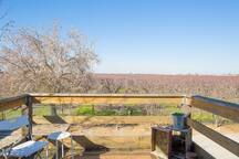 2nd floor balcony overlooking the orchards to the north.