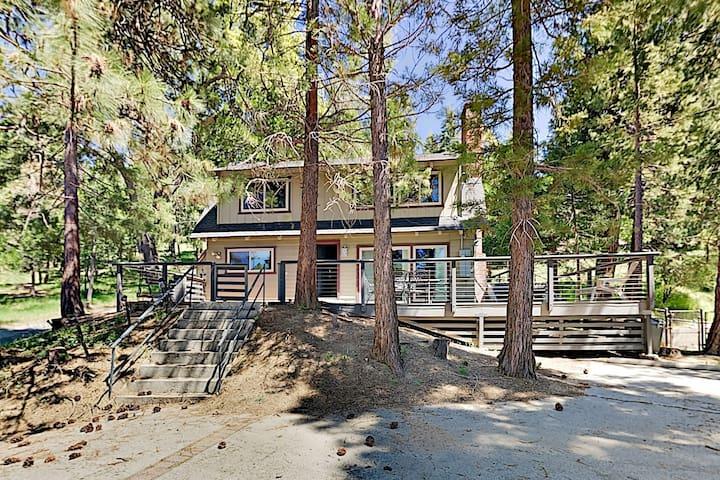 Serene Cabin: Forest Views & Wraparound Deck!