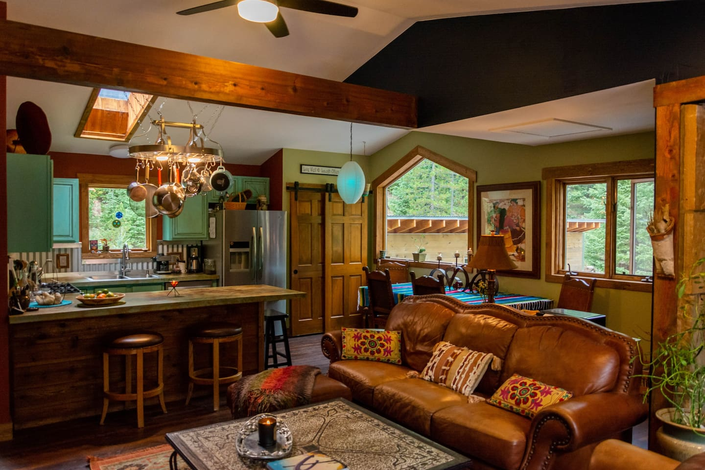 Our open floor plan makes the kitchen, dining and living room a great gathering space for friends and family to enjoy cooking meals, watching tv, playing board games or listening to music, perhaps.