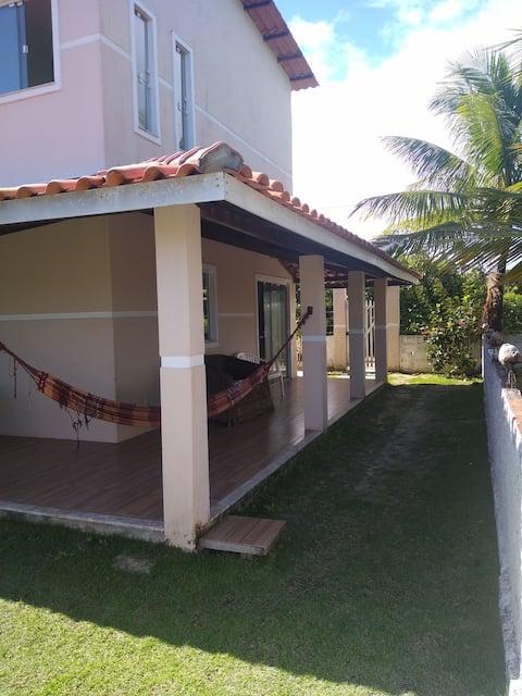 Casa grande na beira da praia em Cacha Pregos para até 10 pessoas