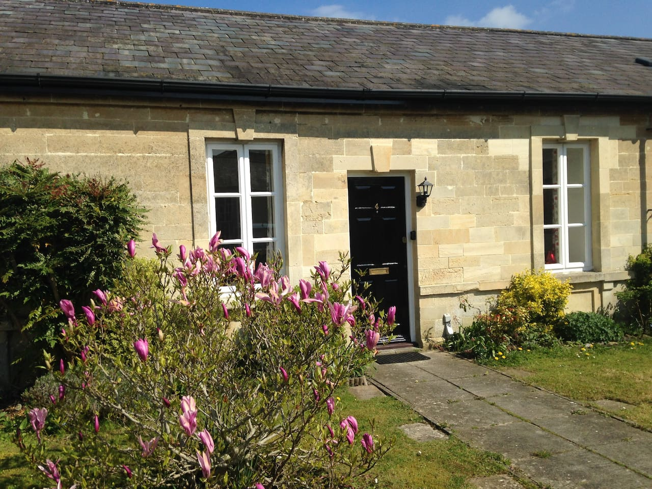 Entire property  - attractive Bath stone former porters lodge conversion