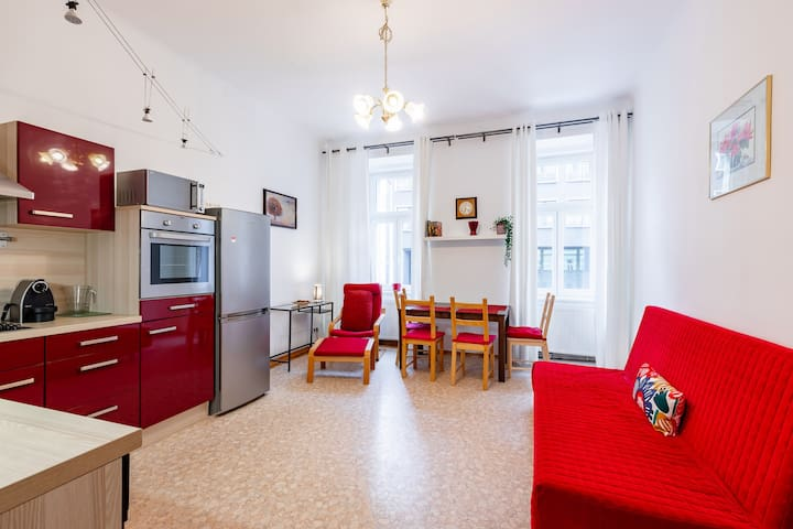 Spacious apartment next to the subway station