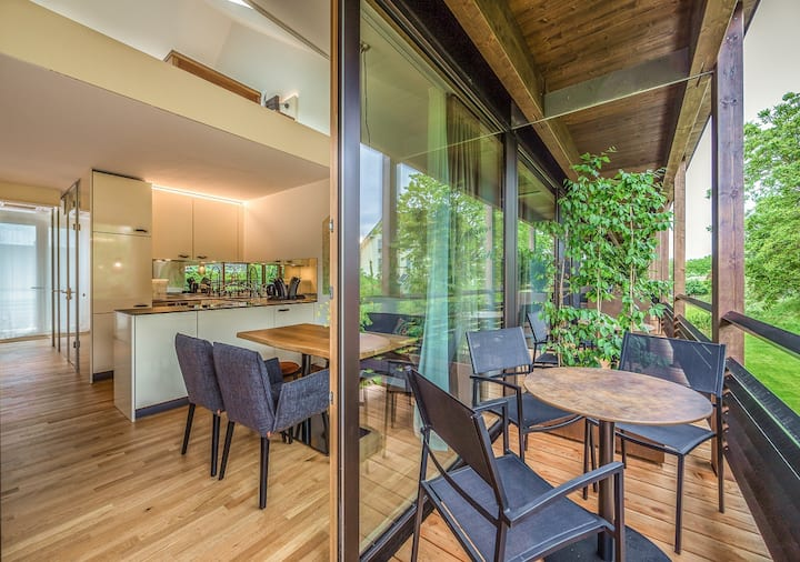 Boardinghouse Bodensee, (Gaienhofen), Suite Apartment 80, 80qm, Balkon, 2 Schlafzimmer, max. 4 Personen