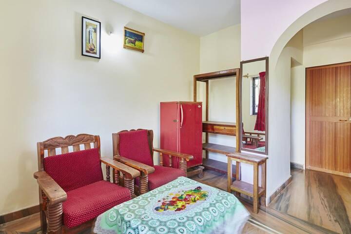1BHK Apartment with Kitchen near Morjim Beach Goa