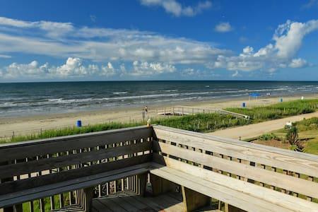 Beachfront at Bermuda beach in Galveston!