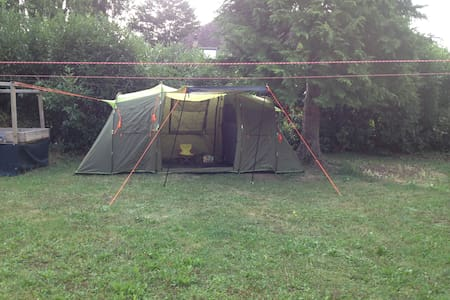 GREEN TENT1 ,+ BED, Commugny, Switzerland. (Right)