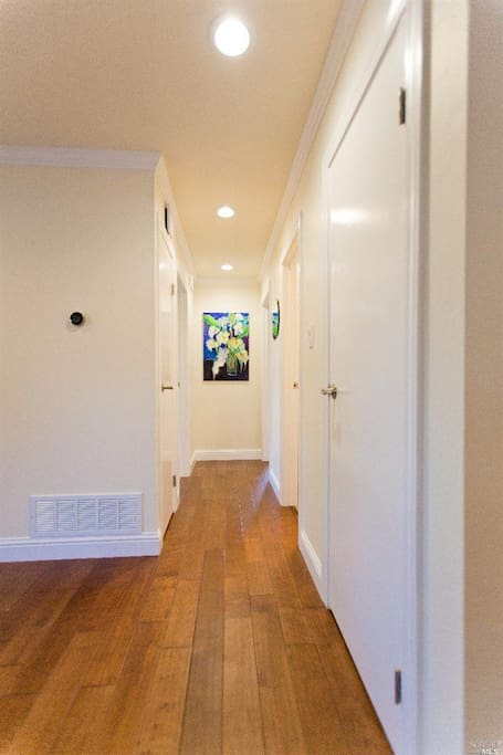 Hallway to Bedrooms/Bathroom