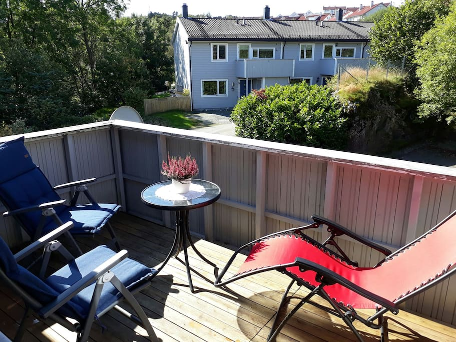 Sunny balcony.