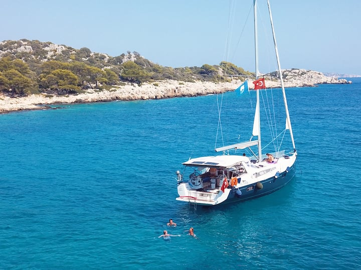 Crewed Sailing Yacht Charter in Kas Turkey