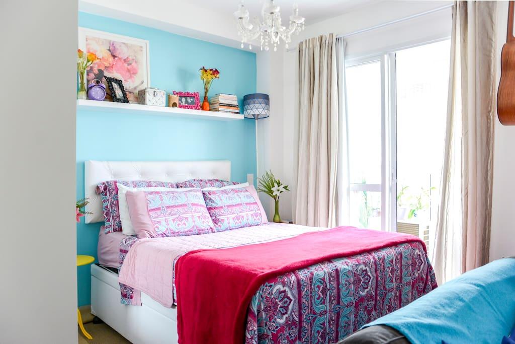 Roupa de cama lavada e cheirosinha =)