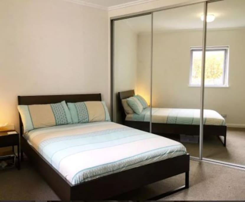 Bedroom with Double-bed & wardrobe space