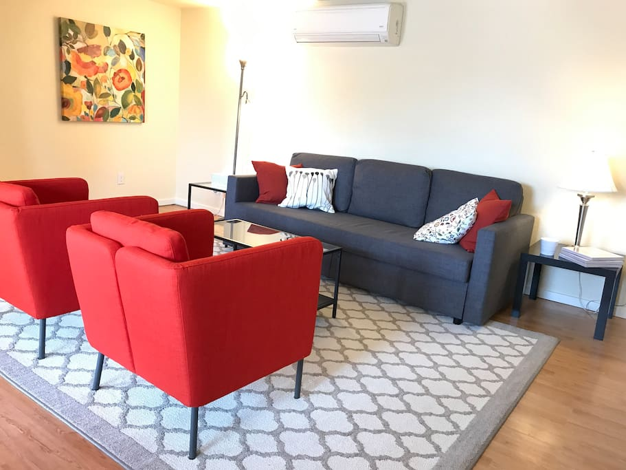 We recently changed over to an orange theme for our furniture!