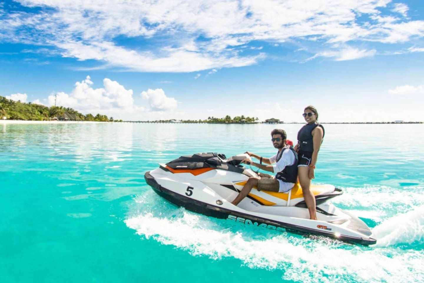 Two free Jet Skis included in your stay with the beach just 10 minutes away!