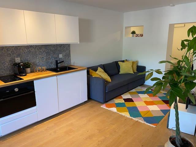 Appartement T2 cosy très calme 500m gare / centre