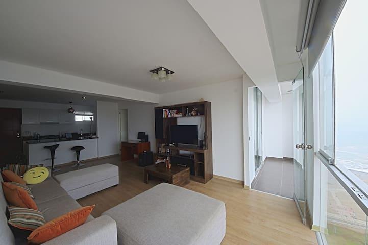 Modern, ocean view apartment