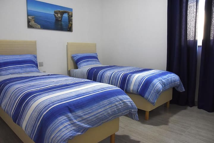 The apartments have 2 more double bedrooms which can have single beds or double beds according to your request.