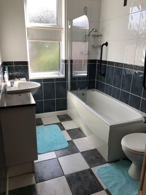 Shared bathroom, 2 toilets