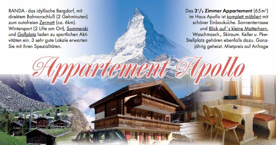 Appartment Apollo in Randa (Nähe Täsch, Zermatt) - Randa - Apartment