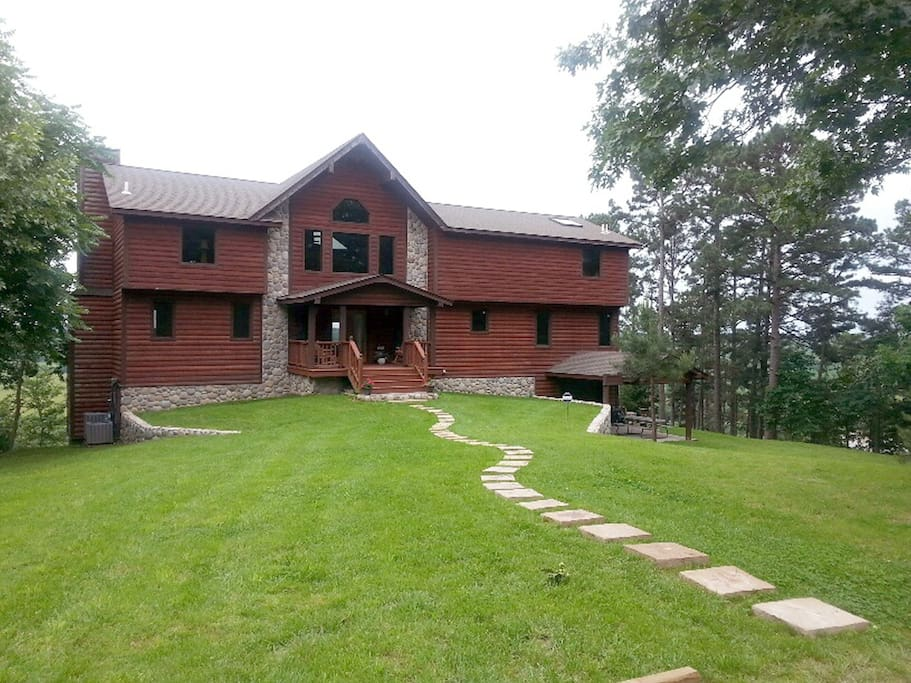 Front of the lodge