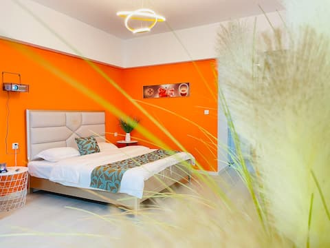 初相遇客栈 整套公寓轻奢风格大床房 投影仪观影
